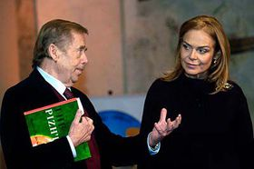 Vaclav Havel with his wife Dagmar, photo: CTK