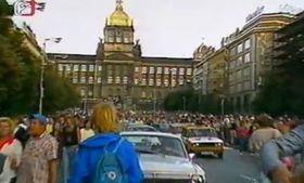 21. August 1989 in Prag (Foto: Tschechisches Fernsehen)