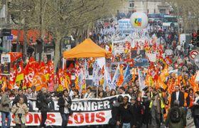 Streik in Frankreich (Foto: ČTK)