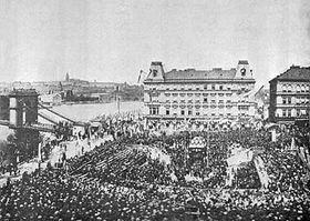 Celkový pohled na slavnost z16. května 1868, foto: ČTK