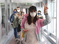 Speciální let z Vietnamu dopravil 25. března 2020 do Prahy 204 Čechů a 82 občanů dalších 11 zemí EU, foto: ČTK/Michal Krumphanzl