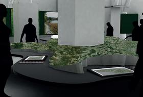 Virtuelles Relief in der Ausstellung Freistadt (Quelle: Erich Woschitz)