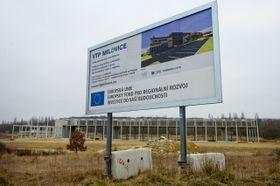 Torzo výstavby vědeckotechnického parku vMilovicích, foto: ČTK