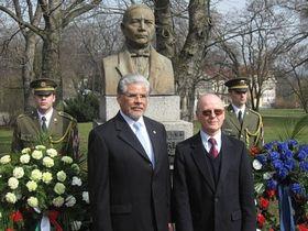 Embajador José Luis Bernal y vicealcalde Jiří Fárek
