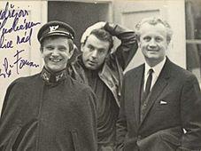 Йиржи Сухи, Йиржи Шлитр и Милош Форман (в центре) в 1966-м году