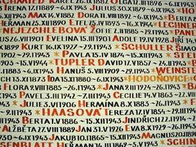 Sinagoga Pinkas - los nombres de las víctimas del holocausto