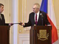 Andrej Babiš et Miloš Zeman, photo: ČTK