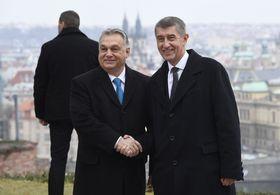 Viktor Orbán, Andrej Babiš, photo: ČTK/Michal Krumphanzl