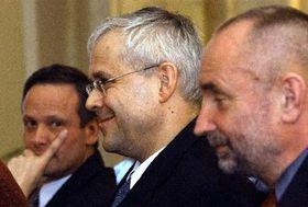 Cyril Svoboda, Vladimir Spidla y Petr Mares, foto: CTK