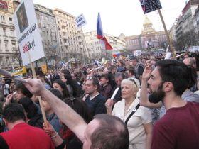 Protest on Wenceslas Square, Prague, April 9, 2018, photo: Martina Schneibergová
