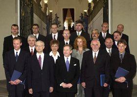Владимир Шпидла, Вацлав Гавел и новый кабинет министров, фото ЧТК