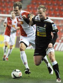 Róbert Cicman (Slavia), David Limberský (Viktoria Plzeň), photo: CTK