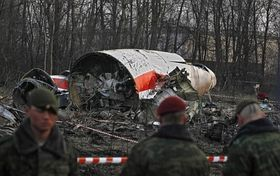 Les débris de l'avion, Smolensk, photo: CTK