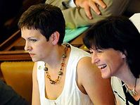 Věra Jakubková s Olgou Zubovou, foto: ČTK