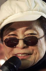 Yoko Ono en Praga, foto: CTK