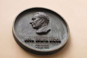 Egon Ervin Kisch plaque in Prague