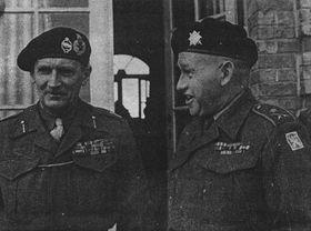 B. L. Montgomery y Alois Liška (a la derecha)