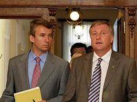 Tomáš Klvaňa (vlevo) a Mirek Topolánek, foto: ČTK