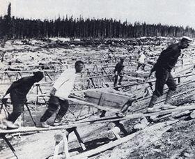 советский исправительно-трудовой лагерь, фото: Wikimedia Commons