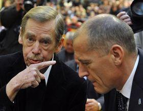 Václav Havel et Zdeněk Tůma, photo: CTK
