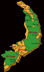 The Orange areas represent concentrated spraying areas, source: kenervinnvietnam.blogspot.com