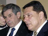 Paul Wolfowitz a Jiří Paroubek, foto: ČTK