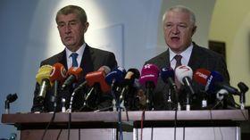 Andrej Babiš, Jaroslav Faltýnek, foto: ČTK