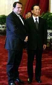 Jirí Paroubek y Wen Jiabao (Foto: CTK)