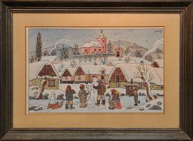 Zima od Josefa Lady, foto: Galerie Smečky