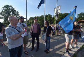 On Monday there was a protest on the bridge in Český Těšín, photo: ČTK / Jaroslav Ožana