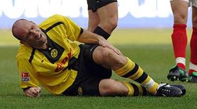 Jan Koller hurt, photo: CTK