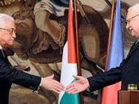 Václav Klaus et Mahmoud Abbas, photo: CTK