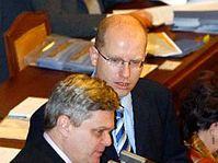 Vlastimil Tlusty et Bohuslav Sobotka, photo: CTK