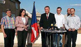 Mirek Topolanek and his Civic Democrats, photo: CTK