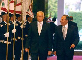 Václav Klaus y Emil Lahud, El Líbano (Foto: CTK)