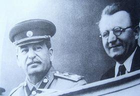 J. V. Staline et Klement Gottwald en 1946