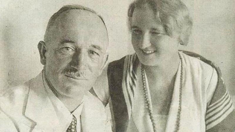 Hana Benešová smanželem (1934), foto: autor neznámý, Public domain, Wikimedia Commons