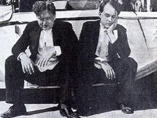 Jan Werich et Jiri Voskovec