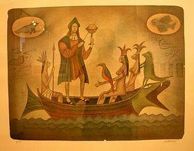 """""""Los descubrimientos de Colón""""   Foto: autor"""