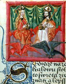 Carlos Iv y su esposa Blanca de Valois, foto: public domain