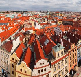 View from Old Town Hall tower to the roofs in Prague, photo: Tiia Monto, Wikimedia Commons, CC BY-SA 4.0
