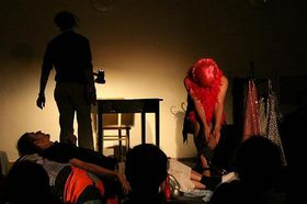 Faidra běží o život, foto: Archiv divadelního souboru Relikty HMYZu