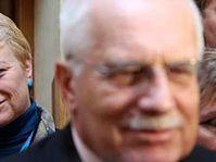 Václav Klaus při návštěvě Senátu, foto: ČTK