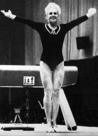 Věra Čáslavská at the Mexico Olympics 1968, photo: CTK