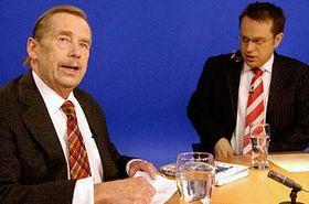 Václav Havel vpořadu ČT, foto: ČTK