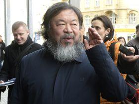 Ai Weiwei en Praga, foto: ČTK