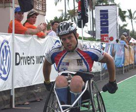 Zbynek Svehla in the Ironman Triathlon