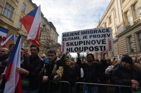 Демонстрация организации блок «Против ислама» в поддержку президента, Фото: ЧТК