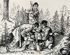 Le dessin antisémite du meurtre d'Anežka Hrůzová, photo: Archives de Klub za starou Prahu