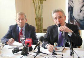 Vaclav Havel y Marcos Aguinis (Foto: Freddy Valverde)